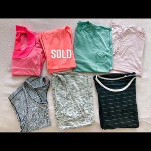 Lot of 6 Lululemon Shirts! Cute Sport Tank Tops